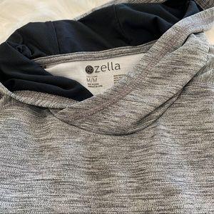 Zella Workout Hoodie Sweatshirt Gray Medium Tall